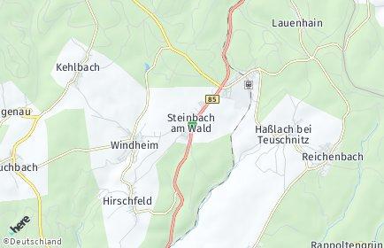 Stadtplan Steinbach am Wald
