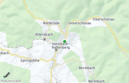 Stadtplan Steinbach-Hallenberg OT Oberschönau