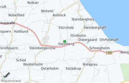 Stadtplan Steinberg (Schleswig)