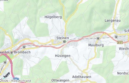Stadtplan Steinen (Baden)