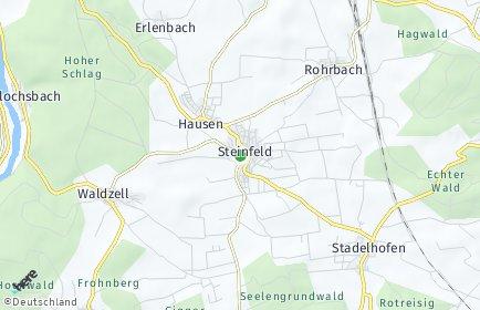 Stadtplan Steinfeld (Unterfranken)