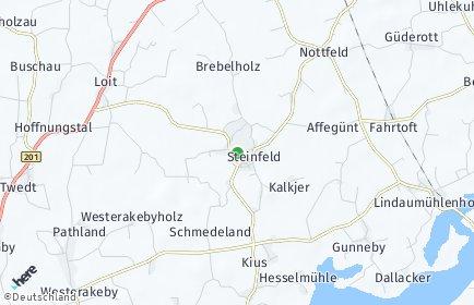 Stadtplan Steinfeld (Schleswig)