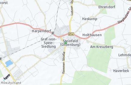 Stadtplan Steinfeld (Oldenburg)