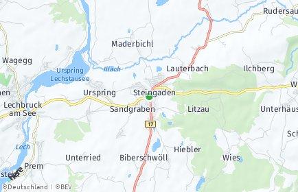 Stadtplan Steingaden