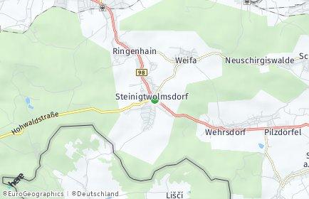 Stadtplan Steinigtwolmsdorf