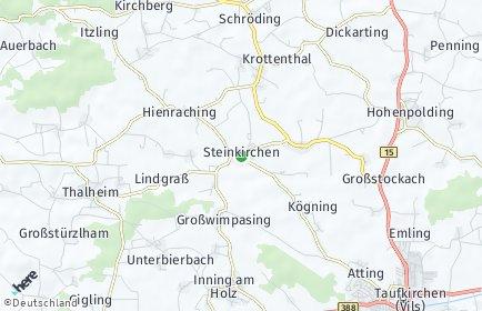 Stadtplan Steinkirchen (Oberbayern)