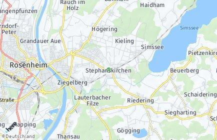 Stadtplan Stephanskirchen OT Kragling