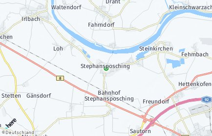 Stadtplan Stephansposching