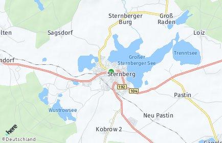 Stadtplan Sternberg