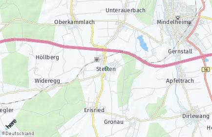Stadtplan Stetten (Schwaben)