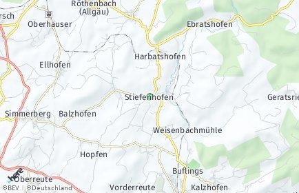 Stadtplan Stiefenhofen