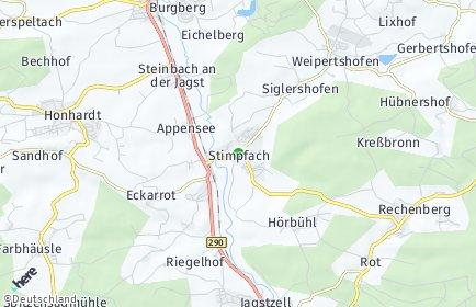 Stadtplan Stimpfach OT Siglershofen