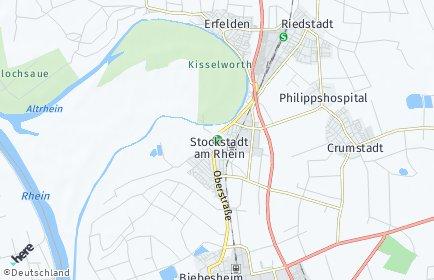 Stadtplan Stockstadt am Rhein