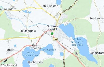 Stadtplan Storkow (Mark)