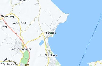 Stadtplan Strande