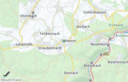 Stadtplan Straubenhardt