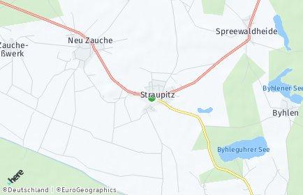 Stadtplan Straupitz