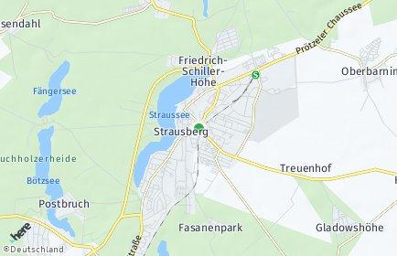 Stadtplan Strausberg