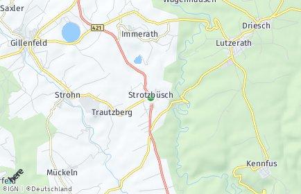 Stadtplan Strotzbüsch
