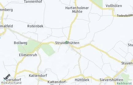 Stadtplan Struvenhütten
