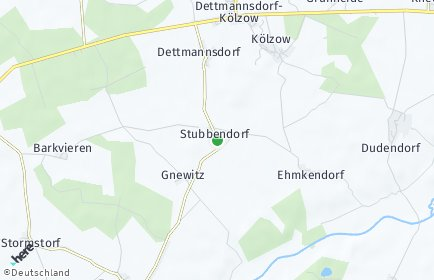 Stadtplan Stubbendorf bei Tessin