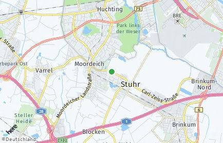 Stadtplan Stuhr