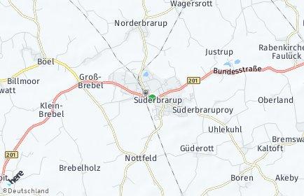 Stadtplan Süderbrarup