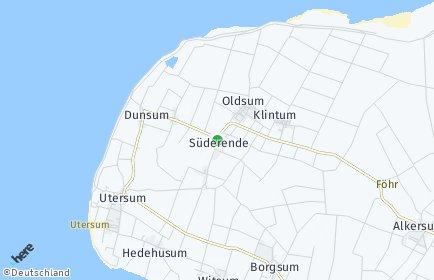 Stadtplan Süderende
