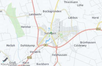 Stadtplan Sulingen
