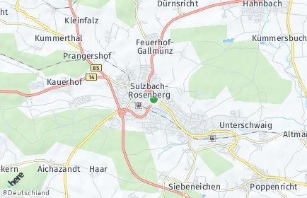 Stadtplan Sulzbach-Rosenberg