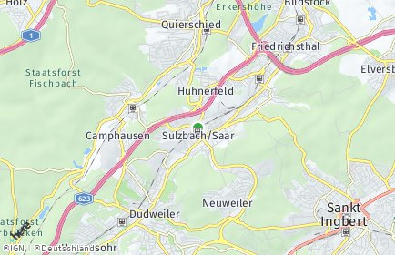 Stadtplan Sulzbach/Saar