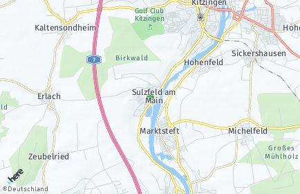 Stadtplan Sulzfeld am Main