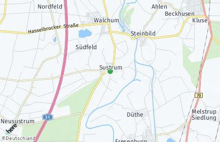 Stadtplan Sustrum
