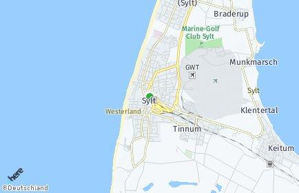 Stadtplan Sylt