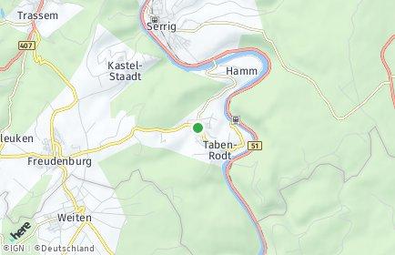 Stadtplan Taben-Rodt