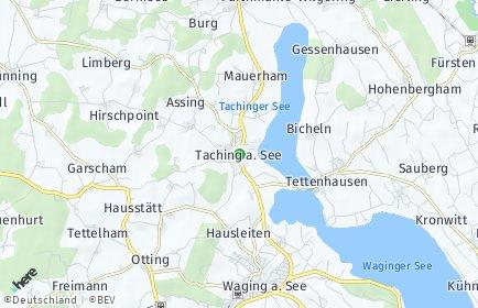 Stadtplan Taching am See