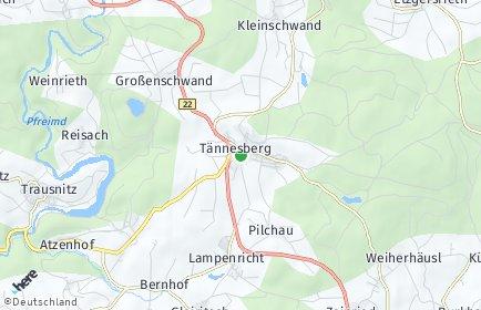 Stadtplan Tännesberg