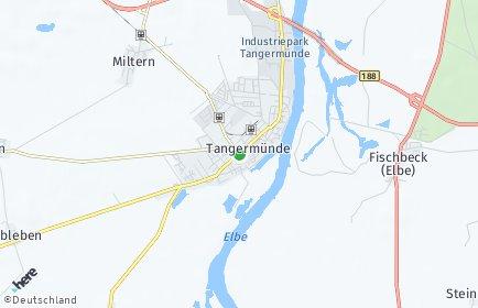 Stadtplan Tangermünde