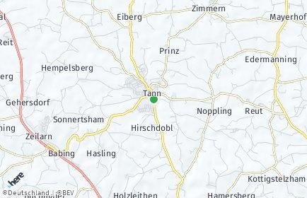 Stadtplan Tann (Niederbayern) OT Forster