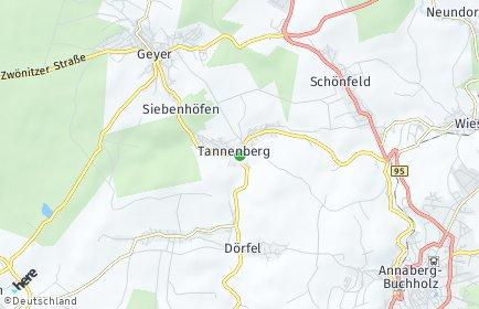 Stadtplan Tannenberg (Sachsen)