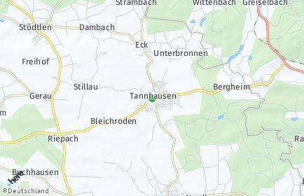Stadtplan Tannhausen