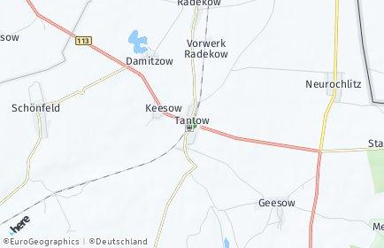 Stadtplan Tantow