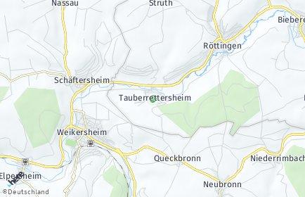 Stadtplan Tauberrettersheim