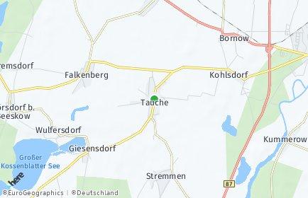 Stadtplan Tauche