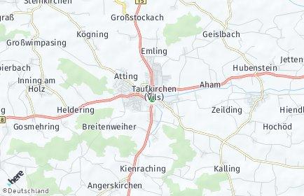 Stadtplan Taufkirchen (Vils)