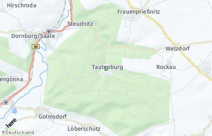 Stadtplan Tautenburg