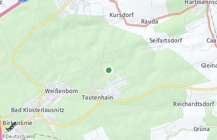 Stadtplan Tautenhain bei Hermsdorf