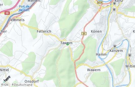 Stadtplan Tawern