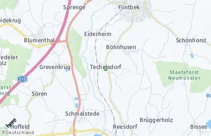 Stadtplan Techelsdorf