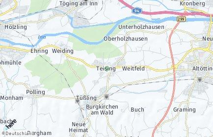Stadtplan Teising